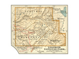 Map of Yosemite National Park (C. 1900), Maps