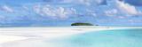 Tourist Couple on Sand Bar in Aitutaki Lagoon, Cook Islands