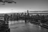Mahattan Bridge, East River and Lower Manhattan, New York City, New York, USA