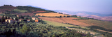Aerial View of a Field, Monticchiello, Pienza, Siena Province, Tuscany, Italy