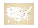 Wood USA Map