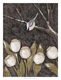 Chickadee & Tulips II