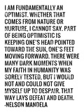 Optimist - Nelson Mandela Quote