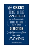 The Direction We Are Moving