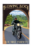Blowing Rock, North Carolina - Motorcycle and Tunnel
