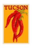 Tucson, Arizona - Red Chili - Letterpress