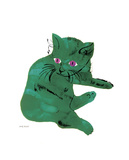 "Cat From """"25 Cats Named Sam and One Blue Pussy"""", c. 1954 (Green Cat)"