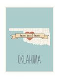 Oklahoma State Map, Home Sweet Home