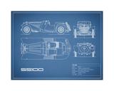 Jaguar SS-100-Blue