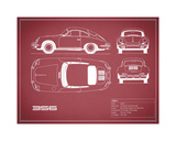 Porsche 356C-Maroon