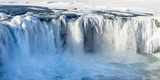 Godafoss Waterfall of Iceland During Winter