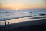 USA, California, San Diego. Swami's Beach at Sunset, Cardiff by the Sea