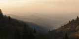 USA, Tennessee, Great Smoky Mountains National Park. Sunrise on Mountain Ridge Lines