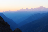 Mont Blanc, 4810M, at Sunset, Haute Savoie, Rhone Alpes, France, Europe