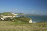 Tennyson Down Looking Towards Freshwater Bay, Isle of Wight, England, United Kingdom, Europe