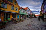 Colourful Street, Ovre Holmegate, Stavanger, Norway, Scandinavia, Europe