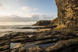 Druidston Haven Beach at Dusk, Pembrokeshire Coast National Park, Wales, United Kingdom, Europe