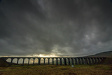 Ribblehead Viaduct, Sunset, Yorkshire Dales National Park, Yorkshire, England, United Kingdom