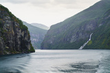 The Suitor Waterfall Lies Directly Opposite the Seven Sisters Waterfall, Geirangerfjord, Norway