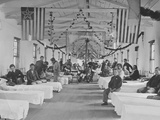 Wounded Soldiers in Hospital During the American Civil War
