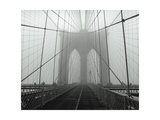 On The Brooklyn Bridge, Fog, Horizontal