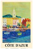 Cote d'Azur (French Riviera) - Port of Saint Tropez - SNCF (French National Railway Company)