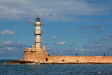 Greece, Crete, Chania, Venetian Harbour, Lighthouse
