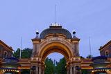 Tivoli, Main Entrance Early in the Evening, Copenhagen, Denmark, Scandinavia