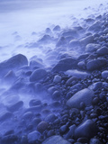 Norway, Telemark, the North Sea, Skagerag, Mslen, Beach with Glacial Pebbles after Sunset