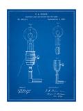 T. A. Edison Light Bulb and Holder Patent Art