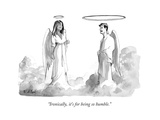 """""Ironically, it's for being so humble."""" - New Yorker Cartoon"