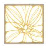 Square Tile of Large Stylized Flower