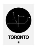 Toronto Black Subway Map