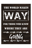 Know Where You Are Going