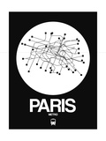 Paris White Subway Map