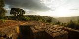 Elevated View of Church of Saint George, Lalibela, Ethiopia