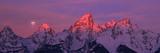 Scenic View of Snow Covered Mountain Range, Teton Range, Grand Teton National Park, Wyoming, USA