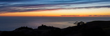 Pacific Ocean and Hills at Dusk, California, USA