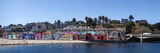 Colorful Buildings and Beach in Capitola, Santa Cruz County, California, USA