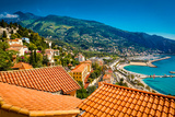 City View of Medieval Menton, Alpes-Maritimes, Cote D'Azur, Provence, French Riviera