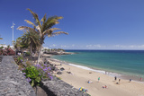 Playa Grande Beach, Puerto Del Carmen, Lanzarote, Canary Islands, Spain, Atlantic, Europe