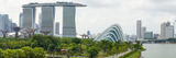 Panoramic View Overlooking the Gardens by the Bay, Marina Bay Sands and City Skyline, Singapore