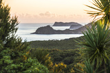 Bay of Islands Coastline at Sunrise, Seen from Russell, Northland Region, North Island, New Zealand