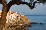 Historic Houses on the Rocky Coastline of Cefalu, Sicily, Italy, Mediterranean, Europe