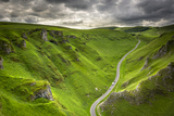 Winnats Pass Near Castleton in the Peak District National Park, Derbyshire, England