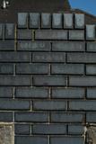 Close Up of a Grey Engineering Brick Wall