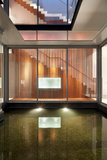 Lit Internal Water Feature in Residential House on Sentosa Island, Singapore, South East Asia