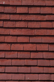 Close Up of Overlapping Red Wall Hung Roof Tiles