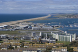 View Towards Chesil Beach from the Top of the Isle of Portland, Dorset, UK