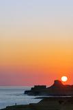Mediterranean Europe, Malta, Gozo Island, Sunrise over Xwejni Bay